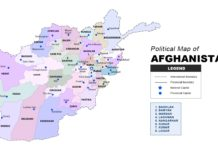 Afghanistan Map Political