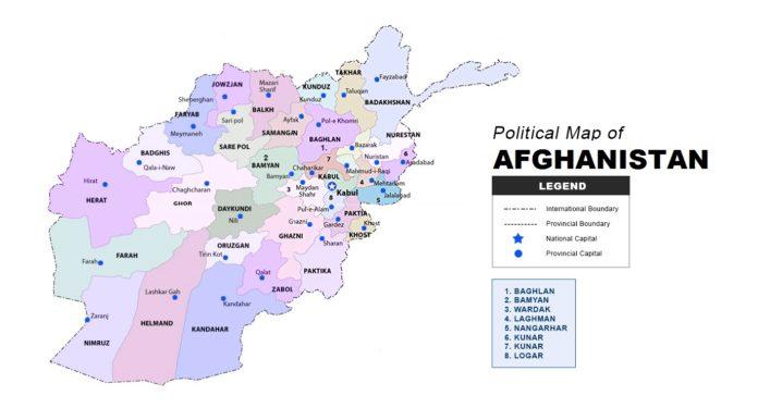 Afghanistan Map Political