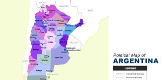 Argentina Map - Political