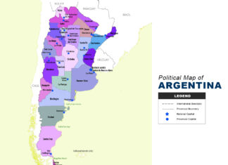 Argentina Map - Political