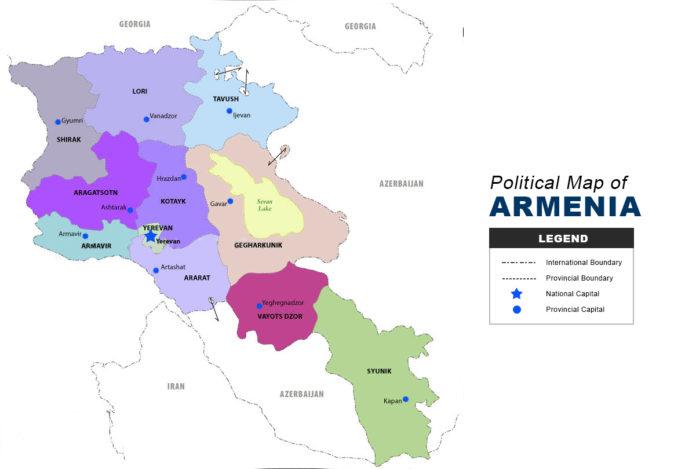 Armenia Map - Political
