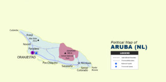 Aruba Map (NL) - Political