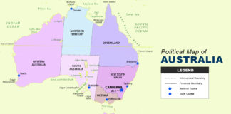 Australia Map - Political