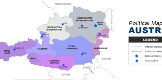 Austria Map - Political