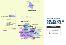 Antigua and Barbuda Map - Political