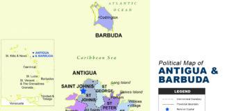Antigua and Barbuda Map - Political