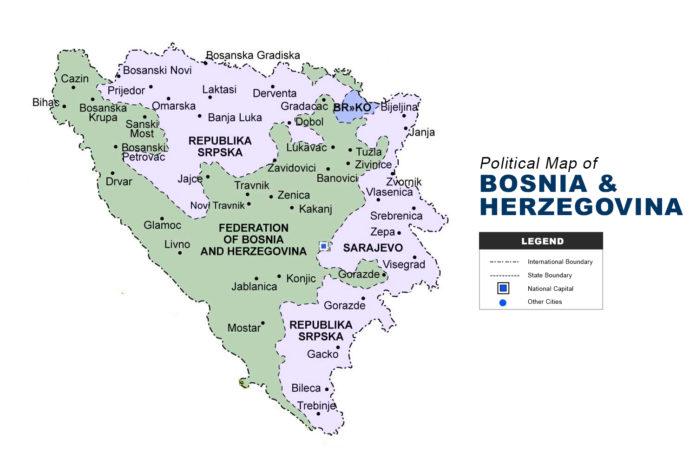 Bosnia and Herzegovina Map - Political