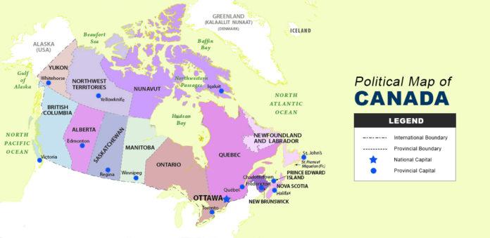 Canada Map - Political