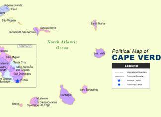 Cape Verde Map - Political