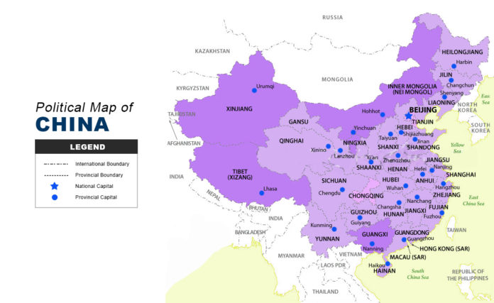 China Map - Political