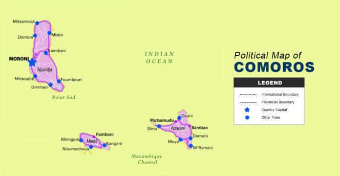 Comoros Map - Political