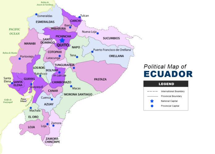 Ecuador Map - Political