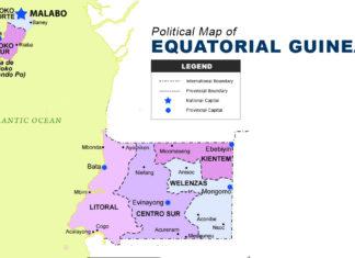 Equatorial Guinea Map - Political