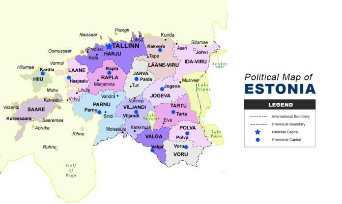 Estonia Map - Political