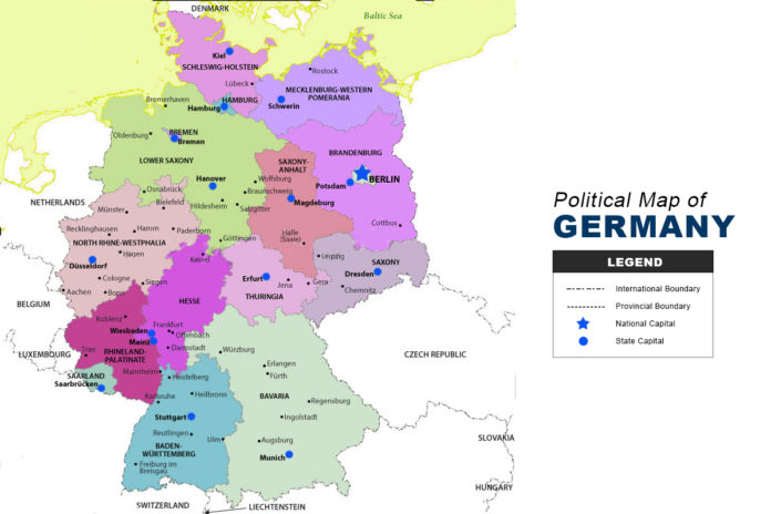 Germany Map - Political