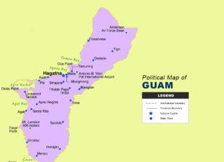 Guam Map - Political