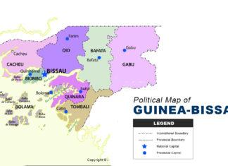 Guinea Bissau map political