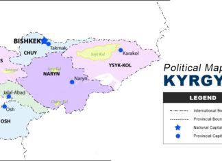 Kyrgyzstan Map - Political