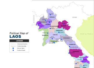 Laos Map - Political