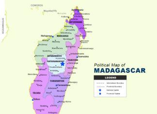 Madagascar Map - Political