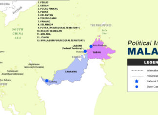Malaysia Map - Political