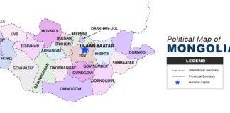 Mongolia Map - Political