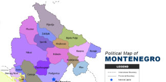 Montenegro Map - Political