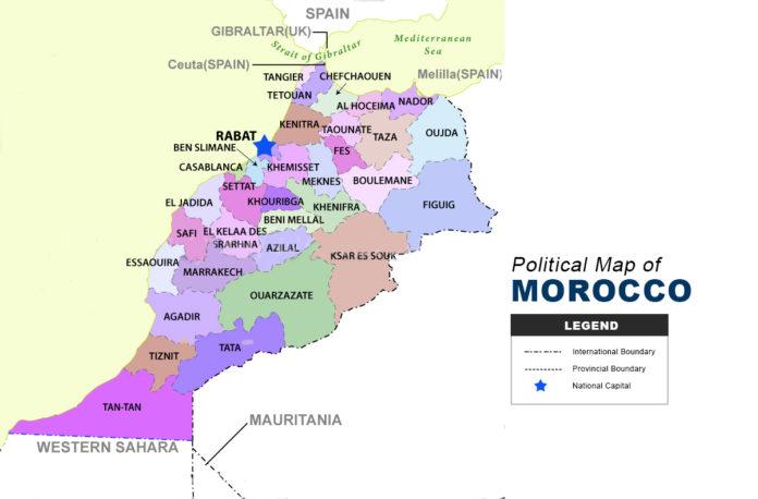 Morocco Map - Political