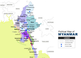 Political Map of Myanmar