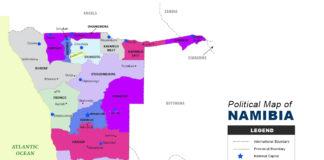 NAMIBIA map political