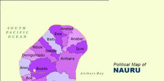 Nauru Map - Political