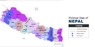 Nepal Map - Political