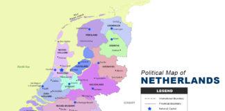 Netherlands Map - Political