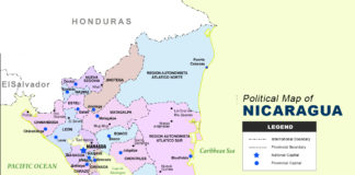 Nicaragua Map - Political