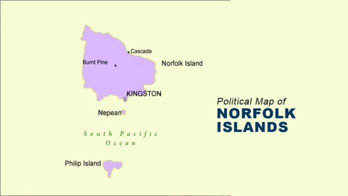 Norfolk Islands Map - Political