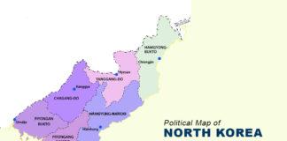 North Korea Map - Political