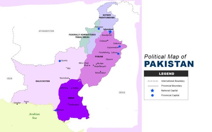 Pakistan Map - Political