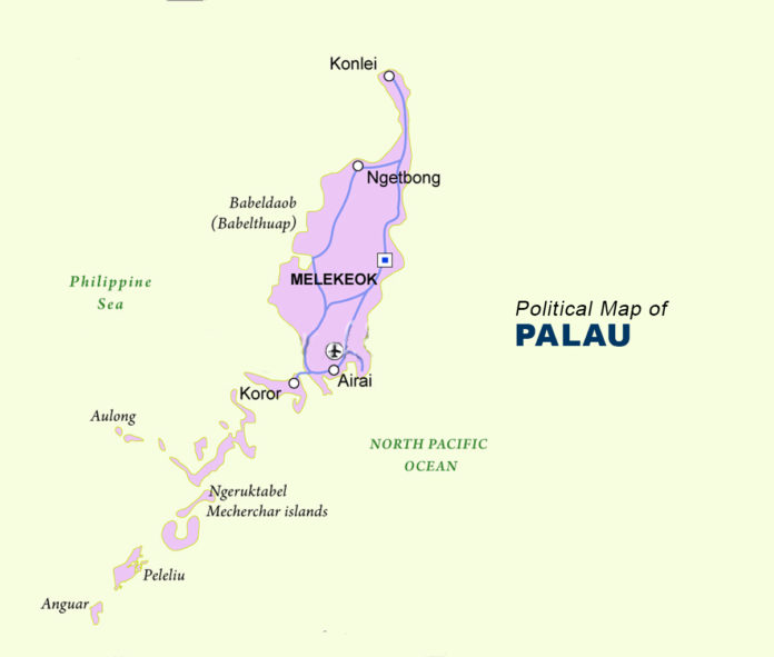 Palau Map - Political