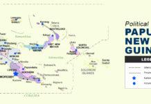 Papua New Guinea Map - Political