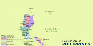 Philippines Map - Political