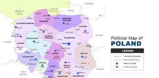 Poland Map - Political