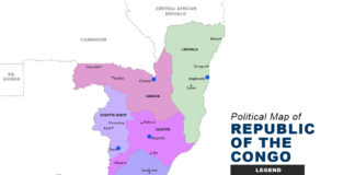 Republic of the Congo Map - Political