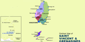 Saint Vincent and the Grenadines Map - Political
