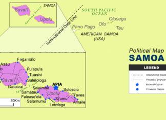 Samoa Map - Political