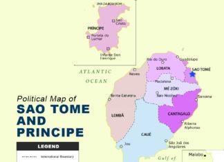 Sao Tome And Principe Map - Political