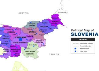 Slovenia Map - Political
