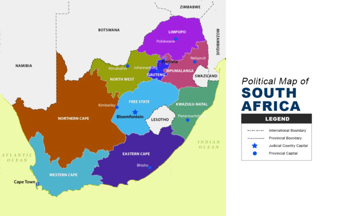 South Africa Map - Political