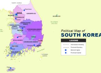 South Korea Map - Political
