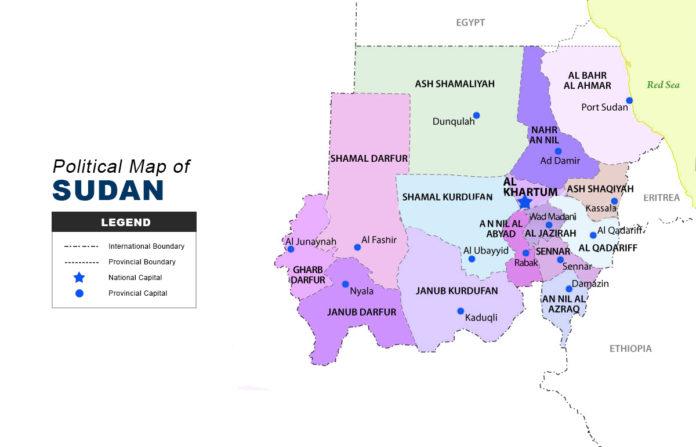 Sudan Map - Political