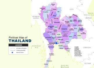 Thailand Map - Political
